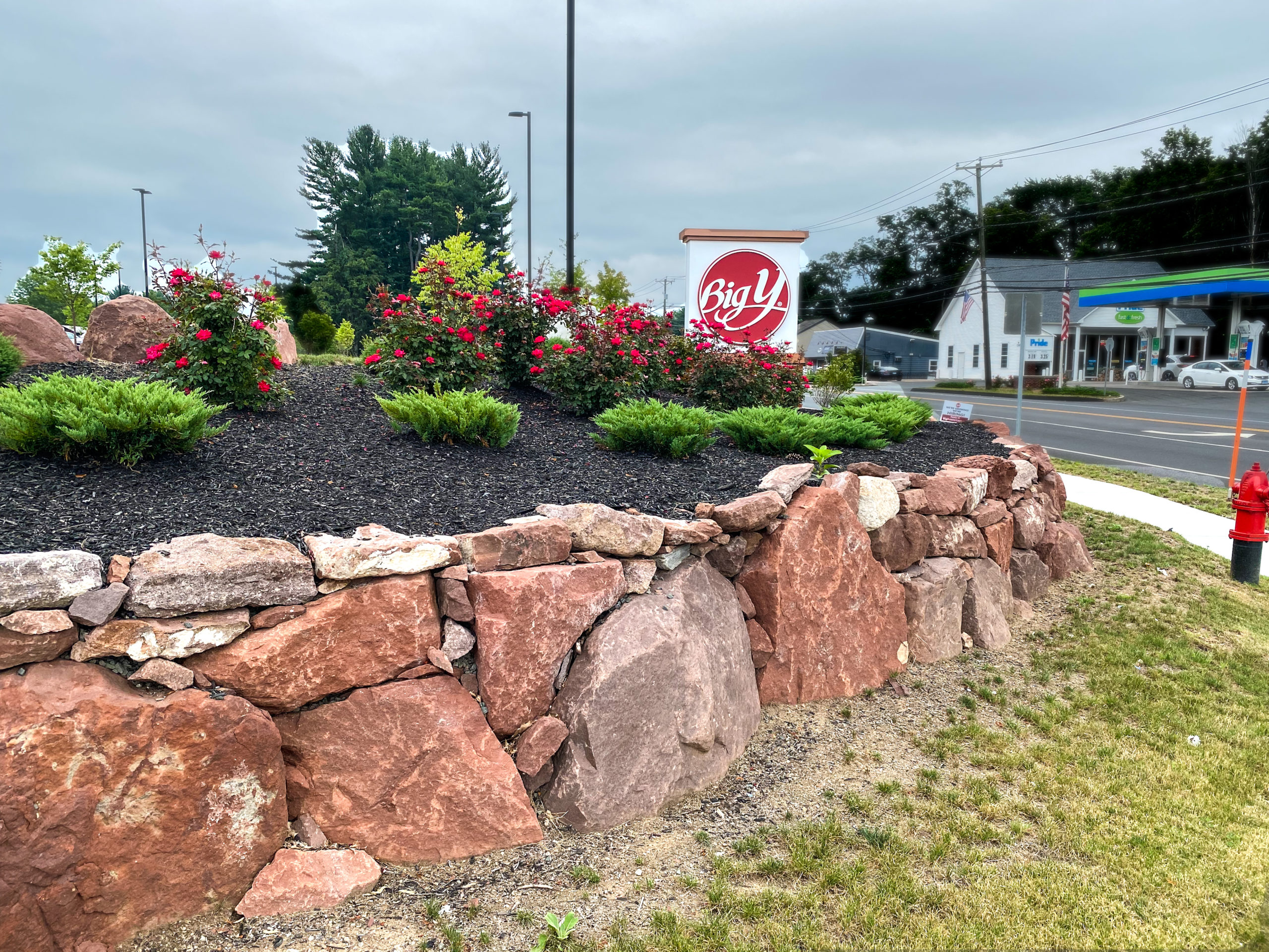 Big Y Retaining wall and landscape design